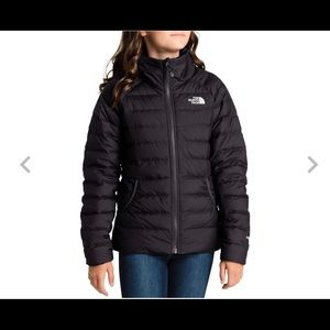 The North Face Girls 550 PufferJacket Black & Pink